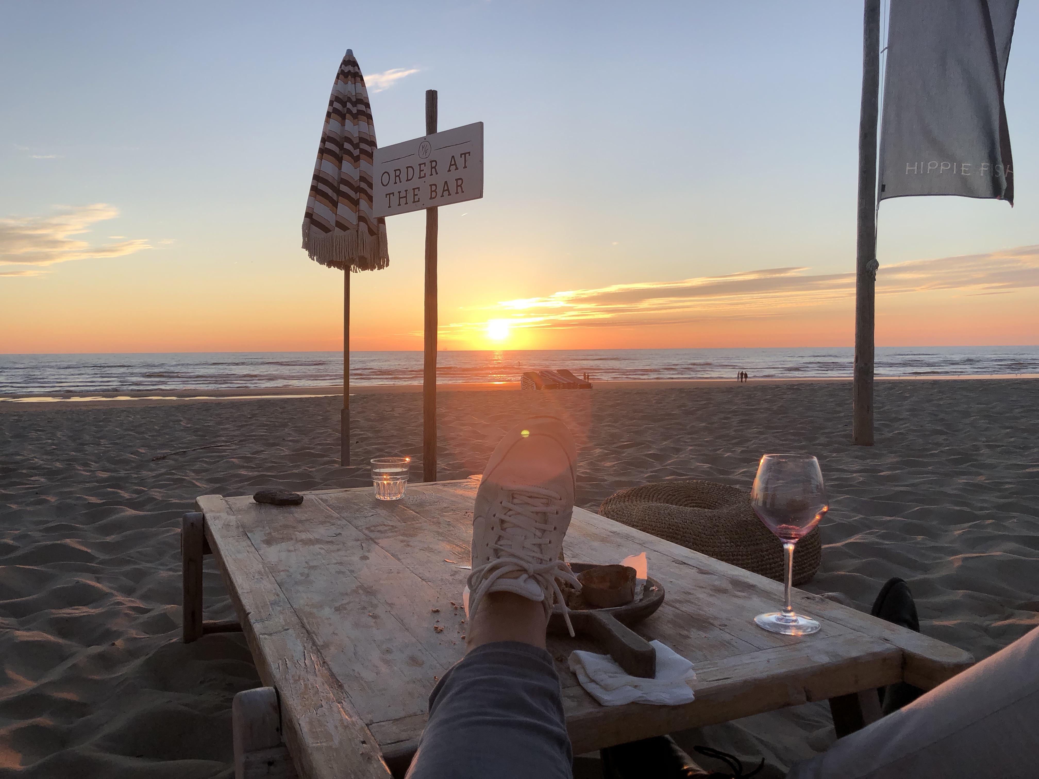 genieten aan het strand